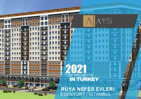 اجاره واحد 68 متری یکخوابه مبله / استانبول                                               مجتمع  Rüya Nefes Evlerı